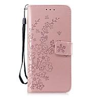 Недорогие Чехлы и кейсы для Galaxy S8 Plus-Кейс для Назначение SSamsung Galaxy S9 / S9 Plus Бумажник для карт / Кошелек / со стендом Чехол Цветы Твердый Кожа PU для S9 Plus / S9 /