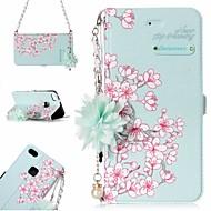 olcso Mobiltelefon tokok-Case Kompatibilitás Huawei P10 Lite P8 Lite (2017) Kártyatartó Minta Héjtok Virág Kemény PU bőr mert P10 Lite Huawei P9 Lite P8 Lite