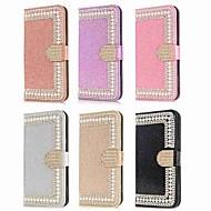 Недорогие Чехлы и кейсы для Galaxy A3(2017)-Кейс для Назначение SSamsung Galaxy A8 2018 A8 Plus 2018 Бумажник для карт Кошелек Стразы Флип Сияние и блеск Чехол Сияние и блеск Твердый