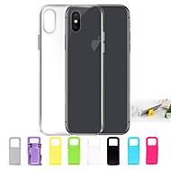 billiga iPhone 8 Plus och Plus-fodral-fodral Till Apple iPhone X / iPhone 8 / iPhone 7 Ultratunt / Genomskinlig Skal Enfärgad Mjukt TPU för iPhone X / iPhone 8 Plus / iPhone 8
