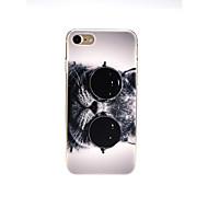 Недорогие Кейсы для iPhone 8-Кейс для Назначение Apple iPhone X / iPhone 7 Ультратонкий / С узором / Милый Кейс на заднюю панель Кот Мягкий ТПУ для iPhone X / iPhone