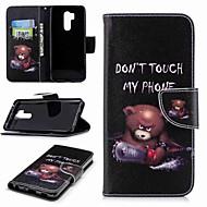 お買い得  携帯電話ケース-ケース 用途 LG K10 2018 / G7 ウォレット / カードホルダー / スタンド付き フルボディーケース ワード/文章 ハード PUレザー のために LG V30 / LG V20 / LG Q6