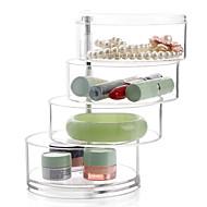 abordables Almacenamiento de escritorio-El plastico Redondo Nuevo diseño Casa Organización, 1pc Cajones / Almacenamiento de Maquillaje / Organizadores de Escritorio