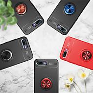 Недорогие Чехлы и кейсы для Huawei Honor-Кейс для Назначение Huawei Honor 10 / Honor View 10(Honor V10) Кольца-держатели Кейс на заднюю панель Однотонный Мягкий ТПУ для Huawei