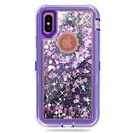 Недорогие Кейсы для iPhone 8-Кейс для Назначение Apple iPhone X / iPhone 8 Plus Защита от удара / Движущаяся жидкость / Сияние и блеск Чехол броня / Сияние и блеск Твердый ПК для iPhone X / iPhone 8 Pluss / iPhone 8
