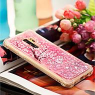 Недорогие Чехлы и кейсы для Galaxy S9-Кейс для Назначение SSamsung Galaxy S9 Plus / S9 Защита от удара / Движущаяся жидкость / С узором Кейс на заднюю панель Цветы Мягкий ТПУ