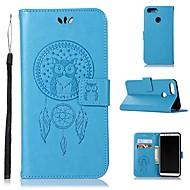 お買い得  携帯電話ケース-ケース 用途 Huawei Nova 2 ウォレット / カードホルダー / スタンド付き フルボディーケース フクロウ ハード PUレザー のために Nova 2