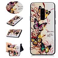 Недорогие Чехлы и кейсы для Galaxy S8-Кейс для Назначение SSamsung Galaxy S9 S9 Plus С узором Кейс на заднюю панель Бабочка Мягкий ТПУ для S9 Plus S9 S8 Plus S8 S7 edge S7 S6