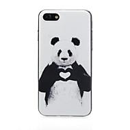 Недорогие Кейсы для iPhone 8-Кейс для Назначение Apple iPhone X / iPhone 7 Ультратонкий / С узором / Милый Кейс на заднюю панель С сердцем / Пейзаж Мягкий ТПУ для