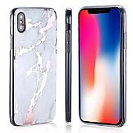 Недорогие Кейсы для iPhone 8-Кейс для Назначение Apple iPhone 8 / iPhone 8 Plus Покрытие / IMD / Ультратонкий Кейс на заднюю панель Мрамор Мягкий ТПУ для iPhone X / iPhone 8 Pluss / iPhone 8