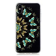 Недорогие Кейсы для iPhone 8-Кейс для Назначение Apple iPhone X / iPhone 8 Plus С узором Кейс на заднюю панель Бабочка Мягкий ТПУ для iPhone X / iPhone 8 Pluss / iPhone 8