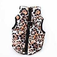 billige Kæledyr Forsyninger-Hunde / Katte / Kæledyr Vintertøj Hundetøj Ensfarvet / Trykt mønster / camouflage Lys pink / Sort / Leopard Bomuld Kostume For kæledyr