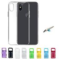 Недорогие Кейсы для iPhone 8-Кейс для Назначение Apple iPhone X / iPhone 8 / iPhone 7 Ультратонкий / Прозрачный Кейс на заднюю панель Однотонный Мягкий ТПУ для iPhone