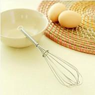お買い得  キッチン用小物-7インチステンレススチールミニ回転ホイッスル卵ビーターキッチンガジェット