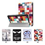 preiswerte Tablet Zubehör-Hülle Für Amazon Kindle Fire 7(7th Generation, 2017 Release) mit Halterung Ganzkörper-Gehäuse Solide Hart PU-Leder für Kindle Fire 7(7th