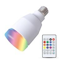 olcso LED okos izzók-YouOKLight 1db 5W 600lm E26 / E27 Okos LED izzók 27 LED gyöngyök SMD Smart / Bluetooth / Audió hangszóró Fehér 110-130V / 220-240V