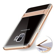 Недорогие Чехлы и кейсы для Galaxy S9-Кейс для Назначение SSamsung Galaxy S9 S9 Plus со стендом Прозрачный Кейс на заднюю панель Однотонный Мягкий ТПУ для S9 Plus S9 S8 Plus