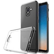 abordables Fundas / Carcasas para Galaxy Serie A-Funda Para Samsung Galaxy A7 (2018) Transparente Funda Trasera Un Color Suave TPU para A7(2018)
