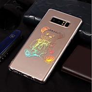 Недорогие Чехлы и кейсы для Galaxy Note-Кейс для Назначение SSamsung Galaxy Note 8 Покрытие / С узором Кейс на заднюю панель Животное Мягкий ТПУ для Note 8