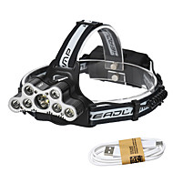 cheap -HKV Headlamps / Lamp LED 7000lm 6 Mode with USB Cable Fastness / Portable / Life Camping / Hiking / Caving / Everyday Use / Cycling / Bike