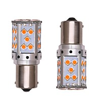 abordables Intermitentes para Coche-2pcs 1156 Coche / Motocicleta Bombillas 35W SMD 3030 2800lm 35 LED Luz de Intermitente / Luz de Circulación Diurna For Motores generales