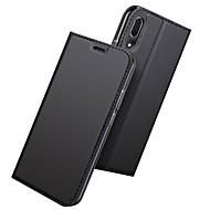 Custodia Per Huawei P20 / P20 Pro Porta-carte di credito / Con supporto / Con chiusura magnetica Integrale Tinta unita Resistente pelle sintetica per Huawei P20 / Huawei P20 Pro / Huawei P20 lite