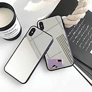 Недорогие Кейсы для iPhone 8 Plus-Кейс для Назначение Apple iPhone X / iPhone 8 Plus Зеркальная поверхность Кейс на заднюю панель Однотонный Твердый Акрил для iPhone X / iPhone 8 Pluss / iPhone 8