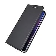お買い得  携帯電話ケース-ケース 用途 Huawei P20 lite / P20 カードホルダー / ウォレット / フリップ フルボディーケース ソリッド ハード PUレザー のために Huawei P20 lite / Huawei P20 / P10 Plus