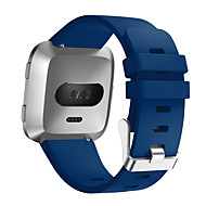 Недорогие Аксессуары для смарт-часов-Ремешок для часов для Fitbit Versa Fitbit Современная застежка силиконовый Повязка на запястье