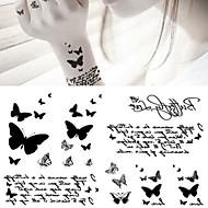 5 pcs Временные тату Временные татуировки Тату с животными Искусство тела рука