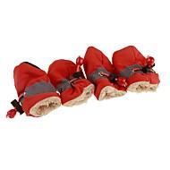 abordables Accesorios para Mascota-Perros / Gatos Botas / zapatos del animal doméstico Deportes y Exterior Un Color Rojo / Azul / Rosa Para mascotas