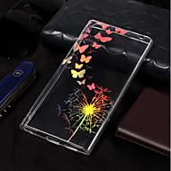 preiswerte Handyhüllen-Hülle Für Sony Xperia L2 / Xperia L1 Beschichtung / Muster Rückseite Schmetterling / Löwenzahn Weich TPU für Xperia L2 / Sony Xperia L1
