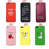 Недорогие Кейсы для iPhone 8 Plus-Кейс для Назначение Apple iPhone X iPhone 8 Защита от удара Матовое Кейс на заднюю панель Слова / выражения Фрукты Животное Твердый ПК для