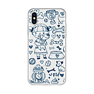 cheap -Case For Apple iPhone X / iPhone 8 Plus Pattern Back Cover Dog / Animal / Cartoon Soft TPU for iPhone X / iPhone 8 Plus / iPhone 8