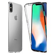 Недорогие Кейсы для iPhone 8-Кейс для Назначение Apple iPhone X / iPhone 8 Защита от удара / Прозрачный Чехол Однотонный Мягкий ТПУ для iPhone X / iPhone 8 Pluss / iPhone 8