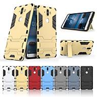 お買い得  携帯電話ケース-ケース 用途 Nokia Nokia 9 スタンド付き バックカバー ソリッド ハード PC のために Nokia 9