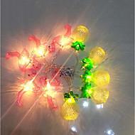 cheap -1.5m String Lights 10 LEDs Warm White / White Batteries Powered