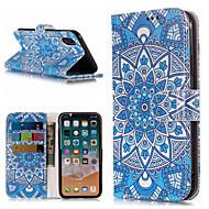 Недорогие Кейсы для iPhone 8 Plus-Кейс для Назначение Apple iPhone X / iPhone 8 Plus Кошелек / Бумажник для карт / со стендом Чехол Мандала / Цветы Твердый Кожа PU для iPhone X / iPhone 8 Pluss / iPhone 8