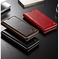 お買い得  携帯電話ケース-ケース 用途 Huawei P20 / P20 Pro ウォレット / カードホルダー / フリップ フルボディーケース ソリッド ハード 本革 のために Huawei P20 / Huawei P20 Pro / Huawei P9 Lite