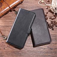 お買い得  携帯電話ケース-ケース 用途 OnePlus OnePlus 6 / OnePlus 5T ウォレット / カードホルダー / スタンド付き フルボディーケース ソリッド ハード 本革 のために OnePlus 6 / One Plus 5 / OnePlus 5T