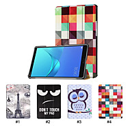 cheap -Case For Huawei MediaPad Huawei MediaPad M5 8 with Stand / Ultra-thin Full Body Cases Solid Colored Hard PU Leather for Huawei MediaPad M5 8