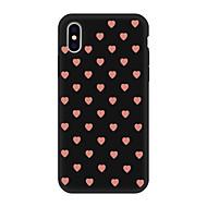 Недорогие Кейсы для iPhone 8 Plus-Кейс для Назначение Apple iPhone X / iPhone 8 Plus С узором Кейс на заднюю панель С сердцем Мягкий ТПУ для iPhone X / iPhone 8 Pluss / iPhone 8
