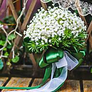 abordables Flores Artificiales-Flores Artificiales 1 Rama Clásico Boda Gipsófila Flor de Mesa