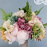 abordables Flores Artificiales-Flores Artificiales 1 Rama Sencilla Boda / Ramos de Flores para Boda Rosas / Hortensias / Violeta Flor de Mesa