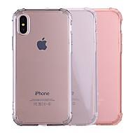 Недорогие Кейсы для iPhone 8-Кейс для Назначение Apple iPhone X / iPhone 8 Защита от удара / Прозрачный Кейс на заднюю панель Однотонный Мягкий ТПУ для iPhone X /