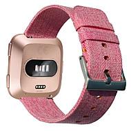Недорогие Аксессуары для смарт-часов-Ремешок для часов для Fitbit Versa Fitbit Классическая застежка Материал / Нейлон Повязка на запястье