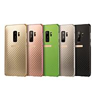 Недорогие Чехлы и кейсы для Galaxy S9 Plus-Кейс для Назначение SSamsung Galaxy S9 Plus Защита от удара / Покрытие Кейс на заднюю панель Однотонный Твердый Алюминий для S9 Plus