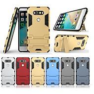 お買い得  携帯電話ケース-ケース 用途 LG V20 スタンド付き バックカバー ソリッド ハード PC のために LG V20