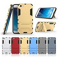お買い得  携帯電話ケース-ケース 用途 Vivo X9 Plus / X9 スタンド付き バックカバー ソリッド ハード PC のために Vivo X9 Plus / Vivo X9