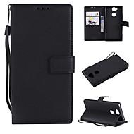 preiswerte Handyhüllen-Hülle Für Sony Xperia L2 / Xperia L1 Geldbeutel / Kreditkartenfächer / Flipbare Hülle Ganzkörper-Gehäuse Solide Hart PU-Leder für Xperia XZ1 Compact / Sony Xperia XZ1 / Sony Xperia XZ